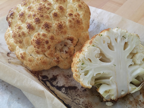 The Everyday Chef: Roasted Cauliflower Steaks w/Parmesan & Honey Mustard
