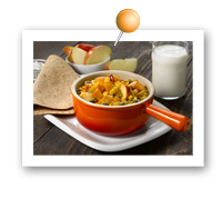Click to view larger image of Apple Corn Chili : Fill Half Your Plate with Fruits & Veggies : Fruits And Veggies More Matters.org