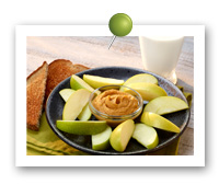 Click to view larger image of Arctic® Apple Wedges with Pumpkin Almond Butter : Fill Half Your Plate with Fruits & Veggies : Fruits And Veggies More Matters.org