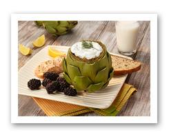 Artichokes with Lemon Dill Yogurt Dip. Fruits And Veggies More Matters.org