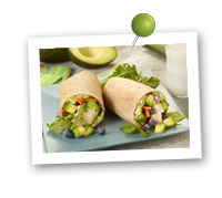 Click to view larger image of California Avocado Super Summer Wrap : Fill Half Your Plate with Fruits & Veggies : Fruits And Veggies More Matters.org