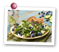 Click to view larger image of Cucumber Blueberry Salad : Fruits And Veggies More Matters.org