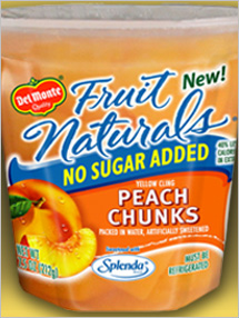 New in your supermarket: Del Monte Fruit Naturals No Sugar Added Peaches