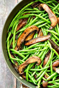Garlic-Green-Beans-with-Portobellos-and-Parmesan
