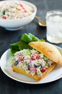 Greek Chicken Salad Sandwich