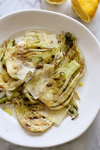 Grilled Fennel with Lemon and Shaved Parmesan