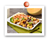Click to view larger image of Grilled Shrimp with Melon Avocado Salsa : Fill Half Your Plate with Fruits & Veggies : Fruits And Veggies More Matters.org