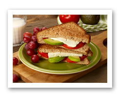 Grilled Avocado, Tomato & Feta Cheese Sandwich. Fruits And Veggies More Matters.org