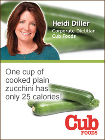 Insider's Viewpoint: Expert Supermarket Advice: Summer's Bounty … Zucchini. Heidi Diller. Corporate Nutritionist, Cub Foods. Fruits And Veggies More Matters.org