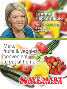 Insider's Viewpoint: Expert Supermarket Advice: Experts Recommend 5-9 Servings of Fruits & Veggies Daily. LeAnne Heckenlaible, Save Mart. Fruits And Veggies More Matters.org