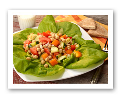 Mediterranean Bean Salad. Fruits And Veggies More Matters.org