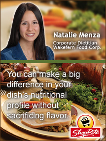 Insiders Viewpoint: Expert Supermarket Advice: Lighten Up … Explore the Healthy Side of Holiday Cooking! Natalie Menza, Shop Rite. Fruits And Veggies More Matters.org