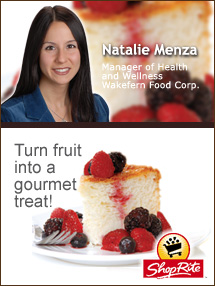 Insider's Viewpoint: Expert Supermarket Advice: Healthy Holiday Desserts. Natalie Menza. Manager of Health and Wellness, Wakefern Food Corporation. Fruits And Veggies More Matters.org