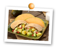 Click to view larger image of Pineapple Avocado Chicken Salad : Fill Half Your Plate with Fruits & Veggies : Fruits And Veggies More Matters.org