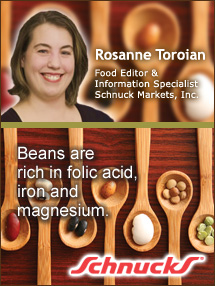 Insider's Viewpoint: Expert Supermarket Advice: Beans: Satisfying, Nutritious and Economical. Rosanne Toroian, Schnuck Markets, Inc. Fruits And Veggies More Matters.org