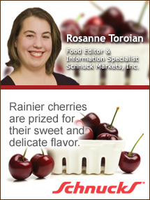 Insider's Viewpoint: Expert Supermarket Advice: Cheers for Cherries! Rosanne Toroian, Schnuck Markets. Fruits And Veggies More Matters.org