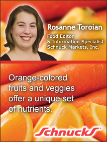 Insiders Viewpoint: Expert Supermarket Advice: Autumn and All Things Orange, Rosanne Toroian, Schnuck Supermarkets. Fruits And Veggies More Matters.org