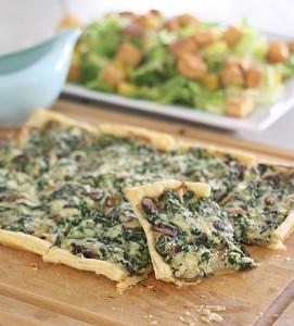 Spinach-Mushroom-Tart