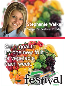 Insider's Viewpoint: Expert Supermarket Advice: Bored? Try Something New! Stephanie Walker, Skogen's Festival Foods. Fruits And Veggies More Matters.org