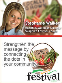 Insider's Viewpoint: Expert Supermarket Advice: 'Locally Grown' … In Schools! Stephanie Walker, Skogen's Festival Foods. Fruits And Veggies More Matters.org