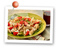 Click to view larger image of Chicken & Pasta Salad : Fill Half Your Plate with Fruits & Veggies : Fruits And Veggies More Matters.org