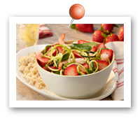 Click to view larger image of Strawberry Shrimp Zucchini Noodle Bowl: Fill Half Your Plate with Fruits & Veggies : Fruits And Veggies More Matters.org