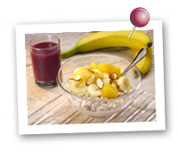Click to view larger image of Tropical Overnight Oatmeal: Fill Half Your Plate with Fruits & Veggies : Fruits And Veggies More Matters.org