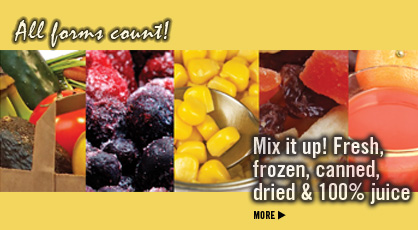 Click to Find Out: Fresh, Frozen, Canned, Dried, 100% Juice