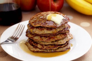 apple banana cinnamon pancakes