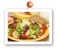 Click to view larger image of Apple-Banana Salad w/Peanuts : Fill Half Your Plate with Fruits & Veggies : Fruits And Veggies More Matters.org