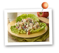 Click to view larger image of Apple & Chicken Salad : Fill Half Your Plate with Fruits & Veggies : Fruits And Veggies More Matters.org