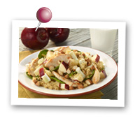 Click to view larger image of Apple, Fennel & Chicken Salad with Couscous : Fill Half Your Plate with Fruits & Veggies : Fruits And Veggies More Matters.org