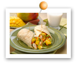 Chicken & Mango Wraps. Fruits And Veggies More Matters.org