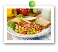 Click to view larger image of Garden Cannellini Bean Salad: Fill Half Your Plate with Fruits & Veggies : Fruits And Veggies More Matters.org