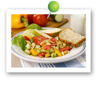 Click to view larger image of Garden Cannellini Bean Salad : Fill Half Your Plate with Fruits & Veggies : Fruits And Veggies More Matters.org