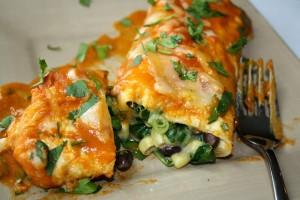 black bean spinach enchiladas