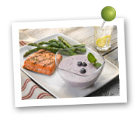 Click to view larger image of Chilled Blueberry Soup : Fill Half Your Plate with Fruits & Veggies : Fruits And Veggies More Matters.org