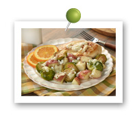 Click to view larger image of Roasted Brussels Sprouts, Potatoes and Chicken : Fill Half Your Plate with Fruits & Veggies : Fruits And Veggies More Matters.org