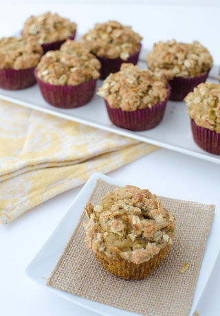 Whole-Wheat Carrot Cake Muffins