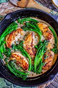chicken and broccolini