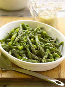 CIA Recipes: Chilled Asparagus with Mustard Herb Vinaigrette