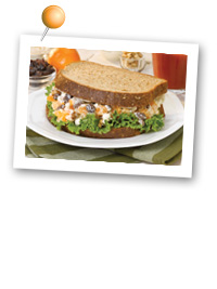 Click to view larger image of Clementine, Raisin & Goat Cheese Salad Sandwich : Fill Half Your Plate with Fruits & Veggies : Fruits And Veggies More Matters.org