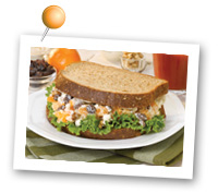 Click to view larger image of Clementine, Raisin & Goat Cheese Salad Sandwich: Fill Half Your Plate with Fruits & Veggies : Fruits And Veggies More Matters.org