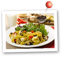 Click to view larger image of Curried Chicken w/Raisins & Mushrooms : Fill Half Your Plate with Fruits & Veggies : Fruits And Veggies More Matters.org