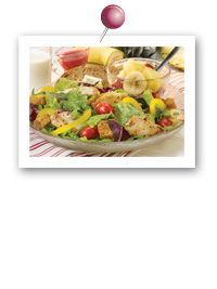 Click to view larger image of European Salad w/Chicken Plate: Fill Half Your Plate with Fruits & Veggies : Fruits And Veggies More Matters.org