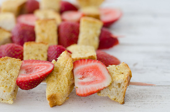 Strawberry French Toast Kebobs