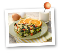 Click to view larger image of Garden Frittata: Fill Half Your Plate with Fruits & Veggies : Fruits And Veggies More Matters.org
