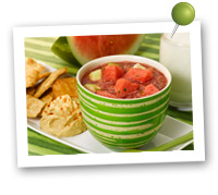 Click to view larger image of Watermelon Gazpacho : Fill Half Your Plate with Fruits & Veggies : Fruits And Veggies More Matters.org
