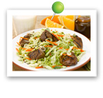 Grilled Lamb Salad. Fruits And Veggies More Matters.org