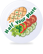 What is a Serving of Fruits and Vegetables? Making It Simple: The Half-Your-Plate Concept : Fill half your plate with fruits and vegetables at each meal or eating occasion. Fruits And Veggies More Matters.org